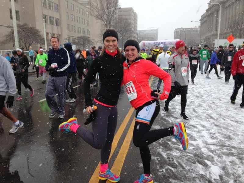 Turkey Trot in the snow